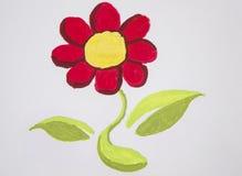 Fiore della pittura con l'acquerello Fotografie Stock Libere da Diritti