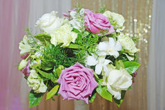 Fiore della Rosa nel ricevimento nuziale immagine stock libera da diritti