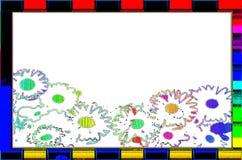 Fiore dello spazio in bianco della struttura immagine stock libera da diritti