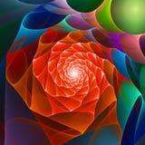 Fiore dello spazio di caos Fotografie Stock