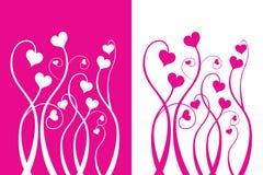 Fiore di amore del biglietto di S. Valentino Fotografie Stock Libere da Diritti