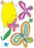 Fiore di amore delle farfalle Fotografia Stock Libera da Diritti