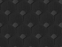 fiore di carta scuro della natura di forma del fan di arte 3D illustrazione di stock