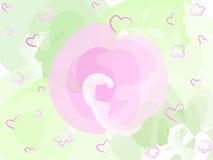 Fiore di colore rosa pastello Fotografia Stock