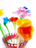 Fiore di cristallo arancione lucido Immagini Stock