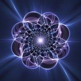 Fiore di frattale di fantasia, modello floreale illustrazione di stock