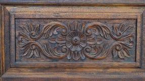 Fiore di legno 01 Fotografie Stock Libere da Diritti