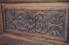 Fiore di legno 02 Immagine Stock
