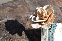 Fiore di legno Fotografie Stock