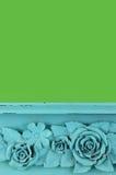 Fiore di legno intagliato immagine stock libera da diritti
