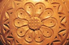 Fiore di legno intagliato Fotografia Stock
