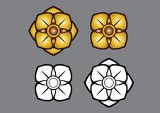 Fiore di Linethai ArtThai ThailandArt Immagine Stock