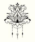 Fiore di loto astratto nello stile indiano royalty illustrazione gratis
