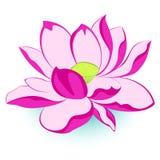 Fiore di loto dentellare illustrazione di stock