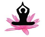 Fiore di loto di yoga Fotografia Stock Libera da Diritti