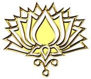 Fiore di Lotus dorato - chiarimento di simbolo illustrazione vettoriale