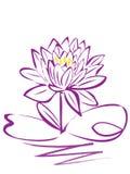 Fiore di Lotuspurple Fotografia Stock Libera da Diritti