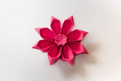Fiore di Origami Fotografia Stock Libera da Diritti
