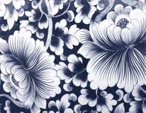 Fiore di parete ceramico Fotografie Stock Libere da Diritti
