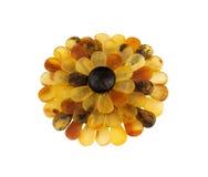 Fiore di pietra ambrato baltico Fotografie Stock Libere da Diritti