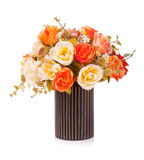 Fiore di plastica per la decorazione fotografie stock libere da diritti