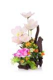 Fiore di plastica per la decorazione fotografia stock libera da diritti