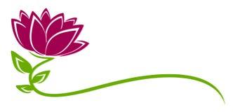 Fiore di porpora di logo illustrazione di stock