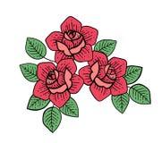 Fiore di Rosa del tatuaggio Vettore isolato arte dell'illustrazione di vettore illustrazione di stock