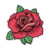 Fiore di Rosa del tatuaggio Vettore isolato arte dell'illustrazione di vettore illustrazione vettoriale