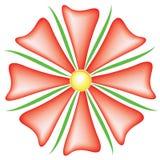 Fiore di rosso di Illustratin Immagini Stock Libere da Diritti