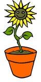 Fiore di smiley Immagini Stock