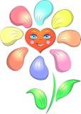 Fiore di sorriso del cuore Immagini Stock Libere da Diritti