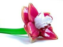 Fiore di vetro Fotografia Stock