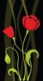 Fiore di vettore del papavero Fotografia Stock