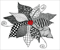 Fiore di Zentangle Fotografia Stock