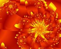 Fiore dorato illustrazione di stock