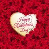Fiore e cuore di Rosa ENV 10 Fotografie Stock Libere da Diritti