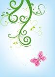 Fiore e farfalla Immagini Stock