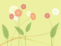 Fiore e foglio astratti Fotografie Stock Libere da Diritti
