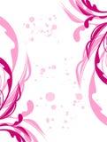 Fiore e foglio del grunge della sorgente dell'illustrazione Immagini Stock