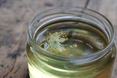 Fiore e miele del tiglio Fotografie Stock
