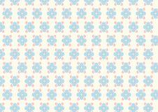 Fiore e modello di spirale su colore pastello Immagine Stock