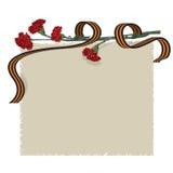 Fiore e nastro del garofano Fotografia Stock