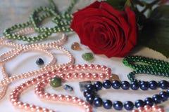 Fiore e perla immagine stock