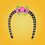 Fiore e perla di Headbrand Immagine Stock