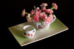 Fiore e tè Fotografia Stock Libera da Diritti
