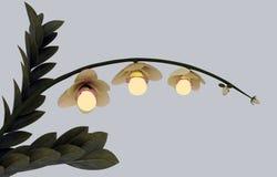 Fiore ecologico di energia con le lampadine Fotografie Stock