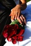 Fiore ed anelli Fotografia Stock