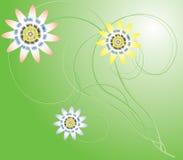 fiore ed erba Immagine Stock Libera da Diritti