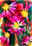 Fiore ed estratto ed estate e quadrato Immagini Stock Libere da Diritti
